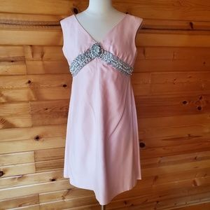 1970s Emma Domb Pale Pink Matte Satin? Dress